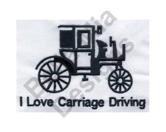 Carriage - Machine Embroidery Design, Buggy