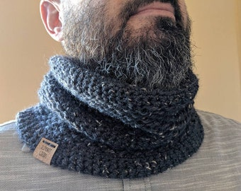 CUSTOM Montero Cowl, Crochet Cowl, Handmade Cowl, Merino Wool Cowl, Gift For Him, Scarf For Him, Winter Scarf
