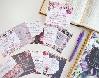 Scripture Cards / Bible Verse Cards / God's Faithfulness / Memory Verse Cards / Scripture Card / Christian Gifts / Faith / Prayer Journal