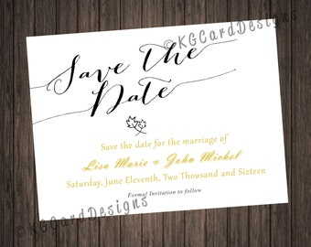 Fall Save the Date Card