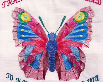 Embroidered whimsical kitchen towels