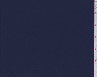 Navy Polyester Crepe, Fabric By The Yard