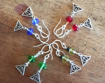 Deathly Hallows Harry Potter inspired earrings