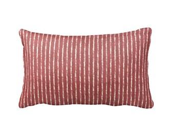 Red Lumbar Pillow Cover Red Throw Pillows Decorative Pillow Red Pillow Covers Crimson Pillow Red Home Decor Striped Pillow Sofa Pillows