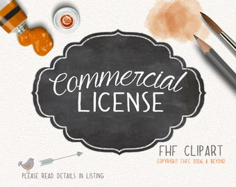 Commercial License to add on to one of our Clip Art Sets