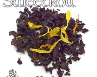 Sweetroll Loose Tea - loose leaf black tea, Skyrim fandom, Elder Scrolls, Oblivion, sweetroll gift, fandom tea, gamer girl gift, dessert tea