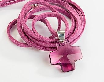 Swarovski elements Crystal cross pendant.