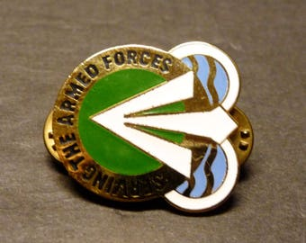 SALE - Army Crest Pin- Serving The Armed Forces