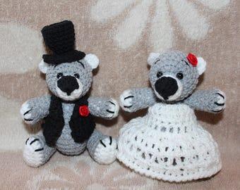 teddy bear / wedding teddy bears / wedding gift / gift / toy crochet