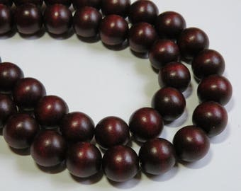 Chocolate Brown wood beads round 16mm full strand eco-friendly Cheesewood 1303NB