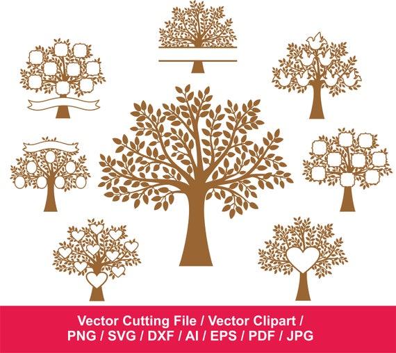 70 Off Family Tree Svg Tree Clipart Tree Vinyl Decal