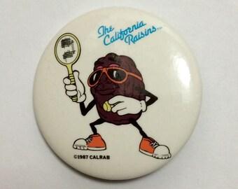 "Vintage 1987 California Raisins 1.5"" Pinback Button"