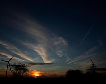 Wind farm & Sunset