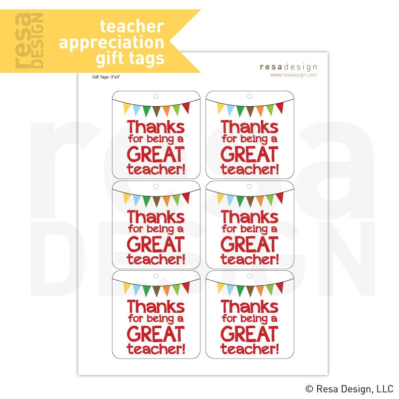 Teacher appreciation gift tags printable printable gift tags zoom negle Gallery