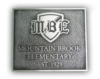 Cast Aluminum Dedication or Memorial Plaque - Sign - Award