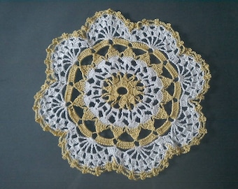 Sweet bow crocheted Doilies two coloured