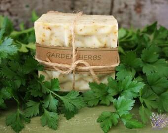 Handmade Garden Herbs Soap, all natural, vegan, palm free, handcrafted