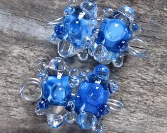 BHG  Azure waterdrop pair