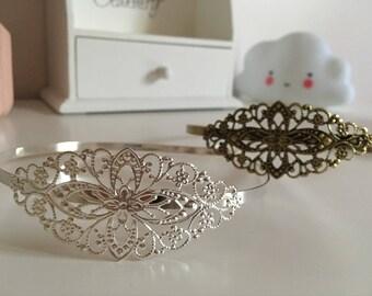 Headband pattern vintage metal filigree