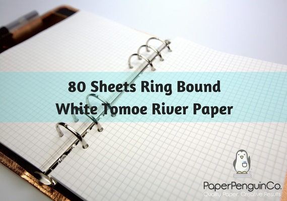 Planner Insert 80 Sheets White Tomoe River Paper Filofax A5 Personal Pocket Kikki K Large Medium Small Ring Bound Paper Grid Dot Lined Blank
