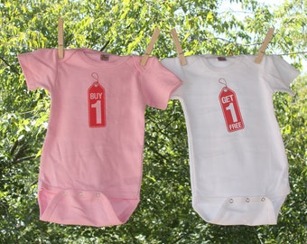 Buy One Get one Free set of two for Twins Infant Bodysuit