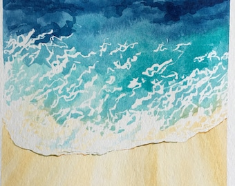 Lapping Waves Watercolor