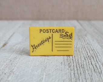 Greeting Card - Postcard - Letter - Mail - Snail Mail - Vacation - Post Office - Lapel Pin