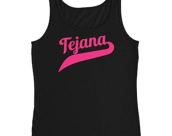 Tejena Tank , Pink Tejana, Tejana Gift, Tex Mex Gift, Gift For Her ,Texas Pride , Mom Gift, Girlfriend Gift