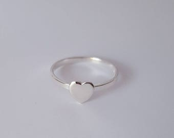 Sterling Silver Heart Ring, Size 7, Birthday Gift, Fast Shipping from USA