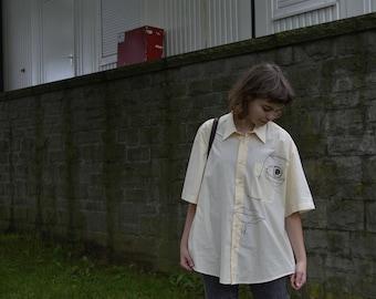 hand-illustrated oversized vintage shirt