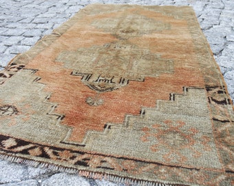 oushak rug / rug small rug, rug runner small oushak rug, turkish small rug floor, beautiful small rugs -   618