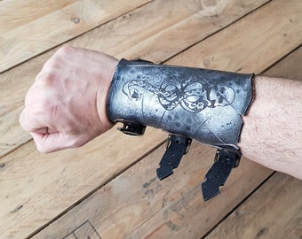 Dark wizard Leather Vambrace, show your loyalty to the dark lord. For mage and witch fans. Not official item