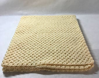 Lap blanket, Office chair throw, wheelchair lap blanket, Couch throw, Pale yellow color