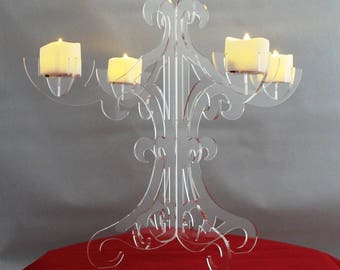 Candelabra LED Candle Holder Acrylic