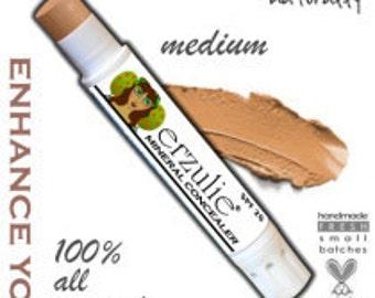 Natural Makeup  Erzulie Mineral Concealer Stick  Organic Cream Concealer  Acne Safe Makeup  Non-Comedogenic Makeup  in MEDIUM Extra Coverage
