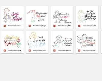 SVG 13 Files the full set of Princess Designs