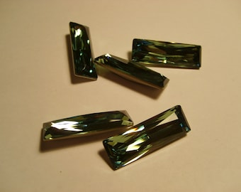 1 pc. Princess Baguette 30x10mm Erinite (360)  Swarovski Crystallized 4547 SALE