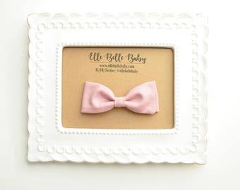 Tulip Pink Bow Tie - Baby Bowtie - Ring Bearer Tie - Wedding Bow tie - Toddler Bow tie - Clip on Bowtie