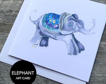 Elephant Art Card (Greeting Card)