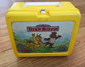 Teddy Ruxpin lunch box
