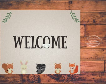 Woodland Creatures Baby Shower Welcome 8x10 Sign | Printable | Instant Download
