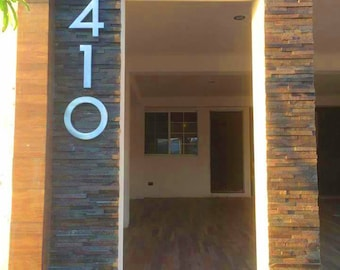 "Modern house numbers (set of 3) / metal numbers / inch / handmade / aluminum / powder coated / 6"" inch, 8"", 12"" and 15.75"""