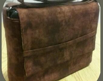 Brown Water-Mark Patten LVAD Bag