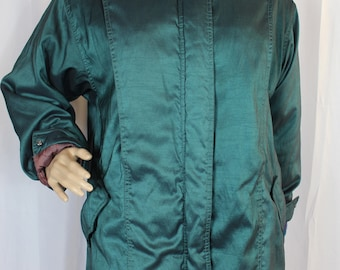 Vintage green puffy coat