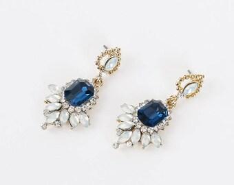 Victorian Blue Earrings_SD