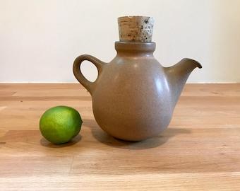 Vintage Heath Ceramics Small Teapot with Cork   Sandalwood Nutmeg Sand Brown   Four Available   Mid Century Modern Edith Heath