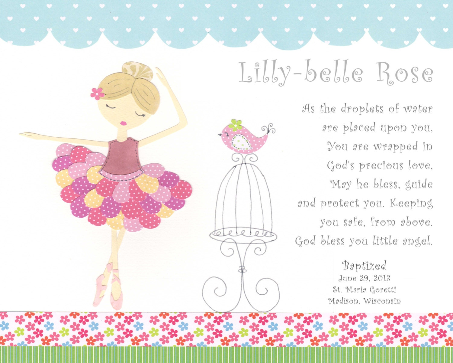 Girls baby christening gifts baptism gift for girl zoom m4hsunfo Image collections