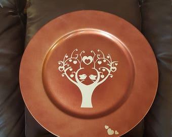 Love Birds Family Tree Plate Decoration