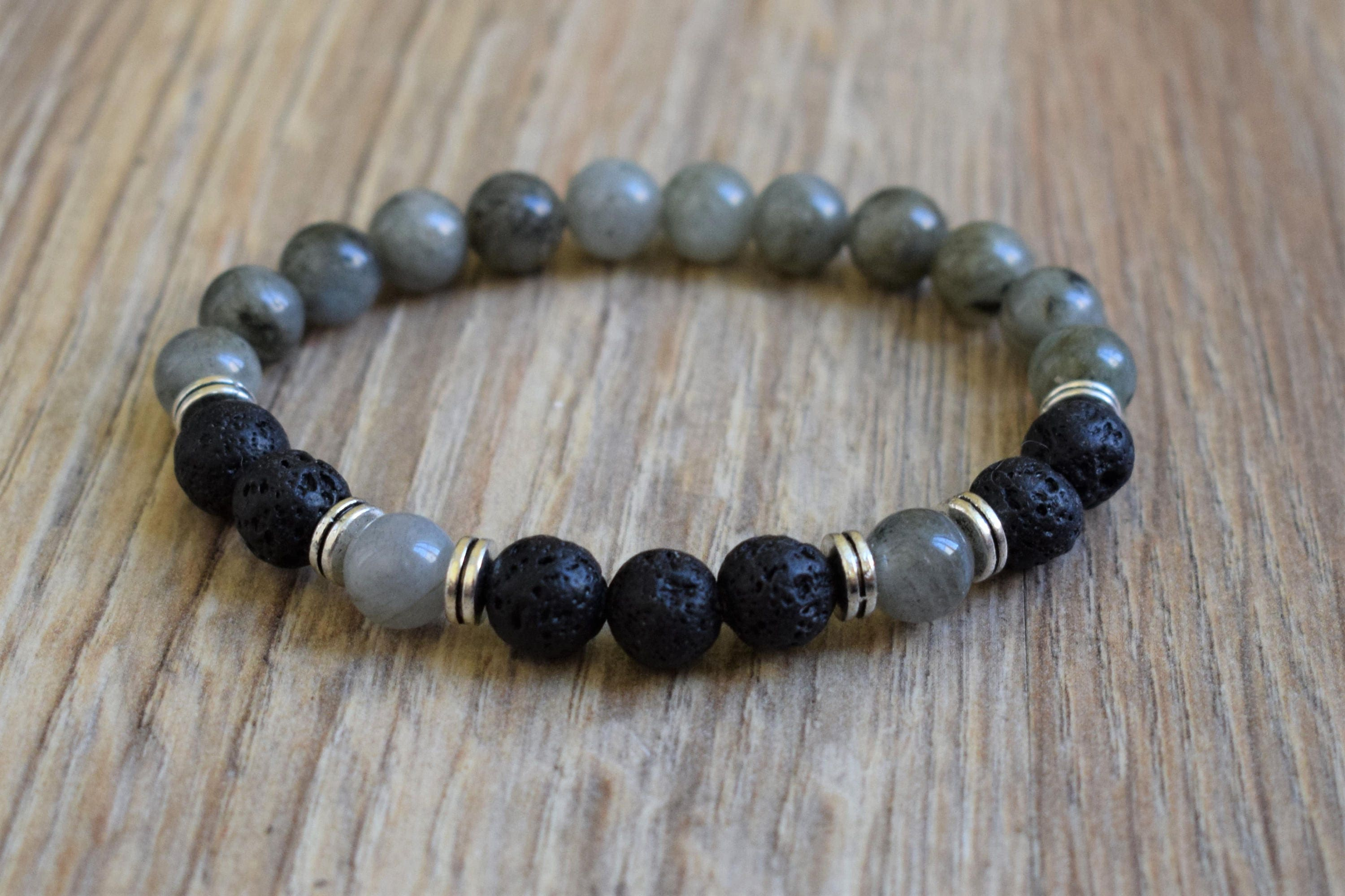 black bead bracelet p wooden beads amazonite stone with strand set lava