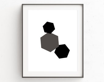 Black Wall Poster, Black Wall Art Decor, Abstract Art, Geometric Prints, Minimalist, Gift For Husband, Geometric Art, Scandinavian Prints